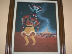 "painting  Apache Dancer 1 by the campfire"" by Jimmy Yellowhair"