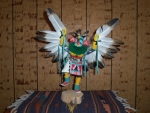 Eagle Dancer With Blue Leggings
