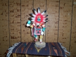 Ahola or Sun Dancer Kachina With Blue Rattle