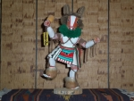 Honan or Badger Kachina With Rattle