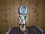 Mongwu or Great Horned Owl Kachina Gray