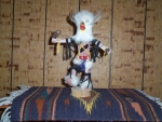 Mongwu or Great Horned Owl Kachina With Red Belt