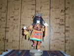 Chusona or Snake Dancer Kachina With Black Feather
